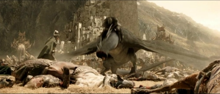 Eowyn slays the Fell Beast