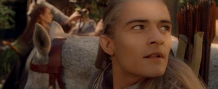 Legolas is awed